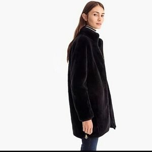 J crew Zip-up plush fleece coat